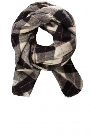 I love my Moment |  Checkered scarf Fae | black  | Picture 1