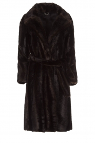 Set |  Faux fur coat Lilly | brown  | Picture 1