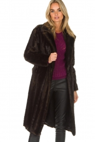 Set |  Faux fur coat Lilly | brown  | Picture 6
