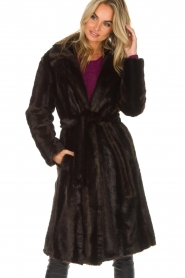 Set |  Faux fur coat Lilly | brown  | Picture 2