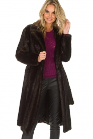 Set |  Faux fur coat Lilly | brown  | Picture 7