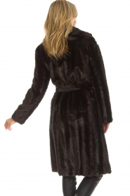 Set |  Faux fur coat Lilly | brown  | Picture 5