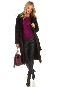 Set |  Faux fur coat Lilly | brown  | Picture 3