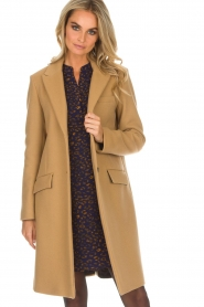 Set |  Woolen coat Amanda | camel  | Picture 4