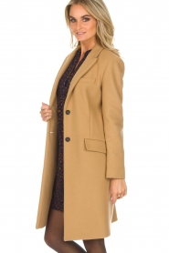 Set |  Woolen coat Amanda | camel  | Picture 5