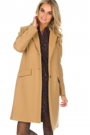 Set |  Woolen coat Amanda | camel  | Picture 2