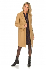 Set |  Woolen coat Amanda | camel  | Picture 3