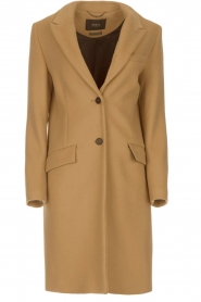 Set |  Woolen coat Amanda | camel  | Picture 1
