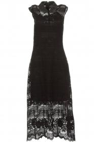 Set | Kanten maxi-jurk Florine | zwart  | Afbeelding 1