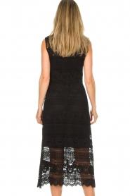 Set | Kanten maxi-jurk Florine | zwart  | Afbeelding 6