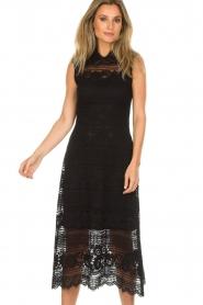 Set | Kanten maxi-jurk Florine | zwart  | Afbeelding 2