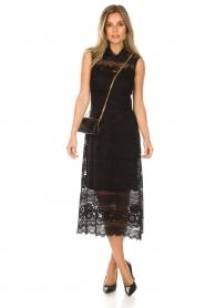Set | Kanten maxi-jurk Florine | zwart  | Afbeelding 3