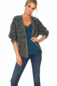 Set |  Cardigan with leopard print Sue | grey  | Picture 2