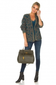 Set |  Cardigan with leopard print Sue | grey  | Picture 3
