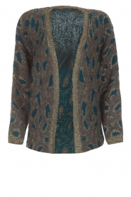 Set |  Cardigan with leopard print Sue | grey  | Picture 1