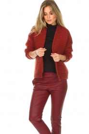 Set |  Knitted cardigan Vieve | red  | Picture 4