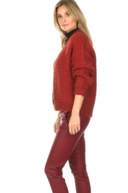 Set |  Knitted cardigan Vieve | red  | Picture 5