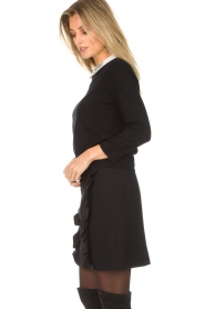 Set |  Fine knit sweater with blouse collar Jules | black  | Picture 5