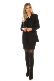 Set |  Fine knit sweater with blouse collar Jules | black  | Picture 3