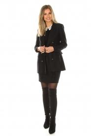 Set | Fijngebreide trui met blousekraag Jules | zwart  | Afbeelding 3