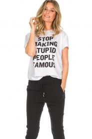 Set |  Statement T-shirt Fame | white  | Picture 2