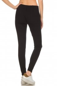 Set |  Stretch pants with zipper details Jade | black  | Picture 5