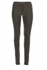 Set |  Leather pants Nadine | grey  | Picture 1