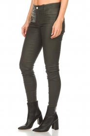 Set |  Leather pants Nadine | grey  | Picture 4