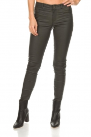 Set |  Leather pants Nadine | grey  | Picture 3