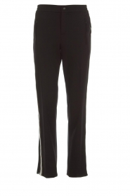 Set |  Sporty trousers with side stripe Lina | black  | Picture 1