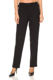 Set |  Sporty trousers with side stripe Lina | black  | Picture 2