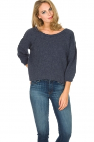 American Vintage | Oversized trui Hanapark | blauw  | Afbeelding 3