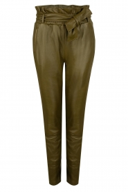 Dante 6 |  Faux Leather pants Duncan | olive green  | Picture 1