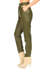 Dante 6 |  Faux Leather pants Duncan | olive green  | Picture 6