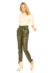Dante 6 |  Faux Leather pants Duncan | olive green  | Picture 2