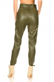 Dante 6 |  Faux Leather pants Duncan | olive green  | Picture 7