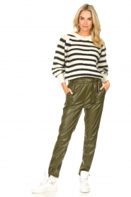 Dante 6 |  Faux Leather pants Duncan | olive green  | Picture 8