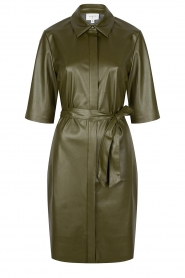 Dante 6    Faux leather dress Baroon   olive green    Picture 1