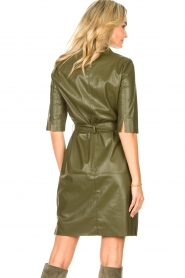 Dante 6    Faux leather dress Baroon   olive green    Picture 6