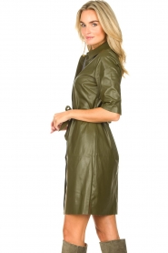 Dante 6    Faux leather dress Baroon   olive green    Picture 5