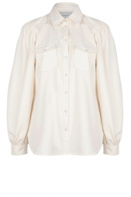 Dante 6 |  Blouse with puff sleeves Percey | natural  | Picture 1