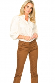 Dante 6 |  Blouse with puff sleeves Percey | natural  | Picture 4