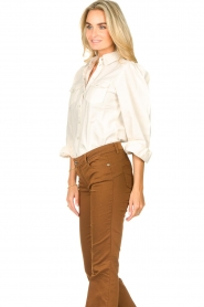 Dante 6 |  Blouse with puff sleeves Percey | natural  | Picture 5