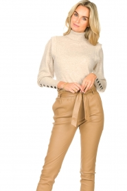 Dante 6 |  Turtleneck with buttons Quentin | natural  | Picture 4