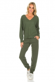 Not Shy |  Cashmere sweatpants Pauline | green  | Picture 2