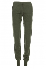 Not Shy |  Cashmere sweatpants Pauline | green  | Picture 1