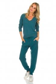 Not Shy | Kasjmieren joggingbroek Pauline | blauw  | Afbeelding 2