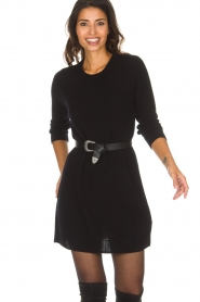 Not Shy |  Long cashmere sweater Elvire | black  | Picture 4
