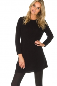 Not Shy |  Long cashmere sweater Elvire | black  | Picture 2
