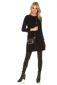 Not Shy |  Long cashmere sweater Elvire | black  | Picture 3